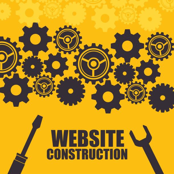 Website Under Construction Background Vector Art Illustration