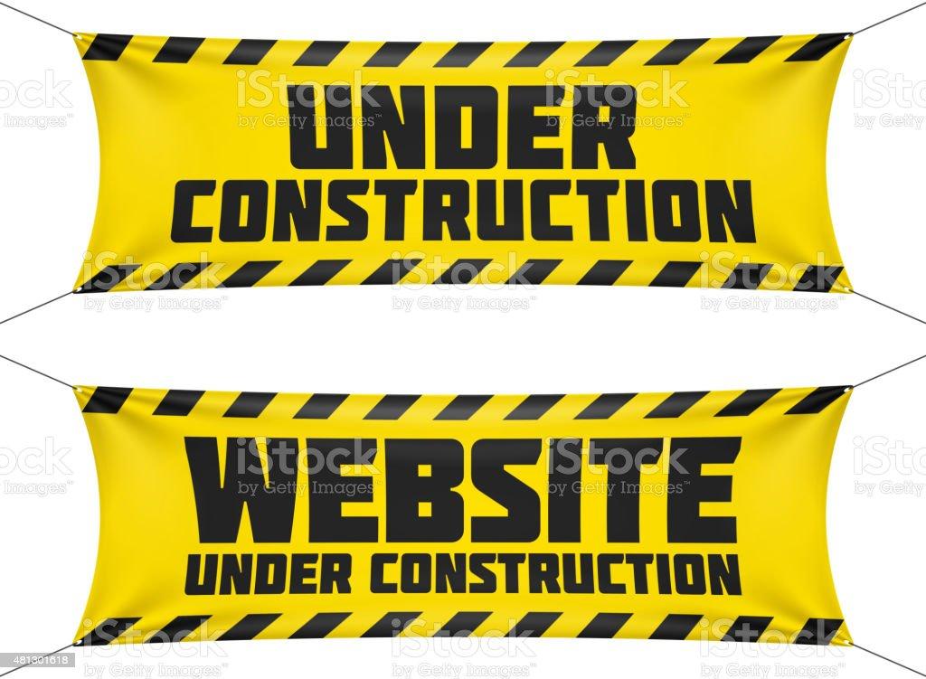 Website Under Construction Banners Stock Illustration