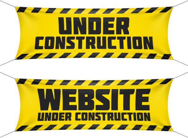 illustrations, cliparts, dessins animés et icônes de bannières de site web en cours de construction - chantier