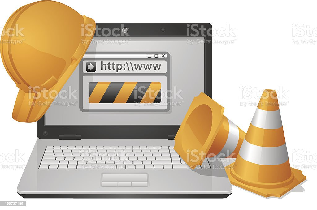 Website Under Construction royalty-free website under construction stock vector art & more images of communication