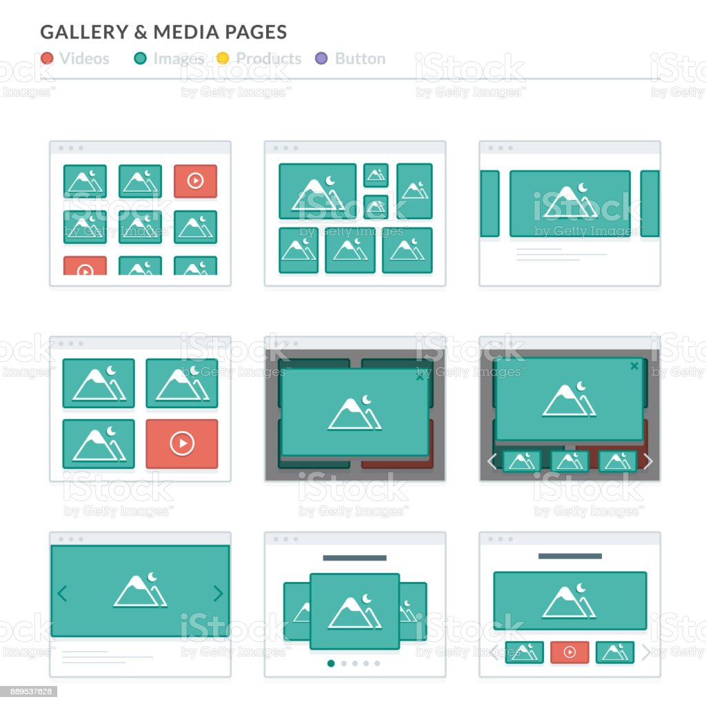 Visio Website Map: Website Wireframe Layouts Ui Kits For Site Map And Ux