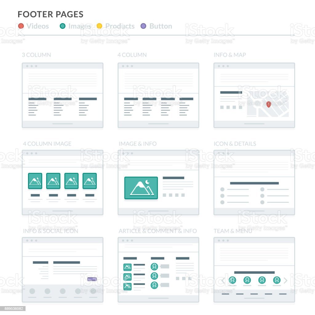 Footer Site Map: Royalty Free Site Footer Clip Art, Vector Images