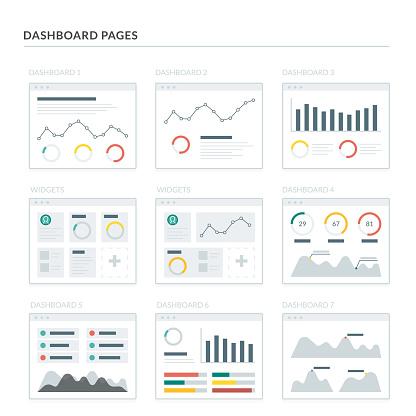 Dashboard stock illustrations