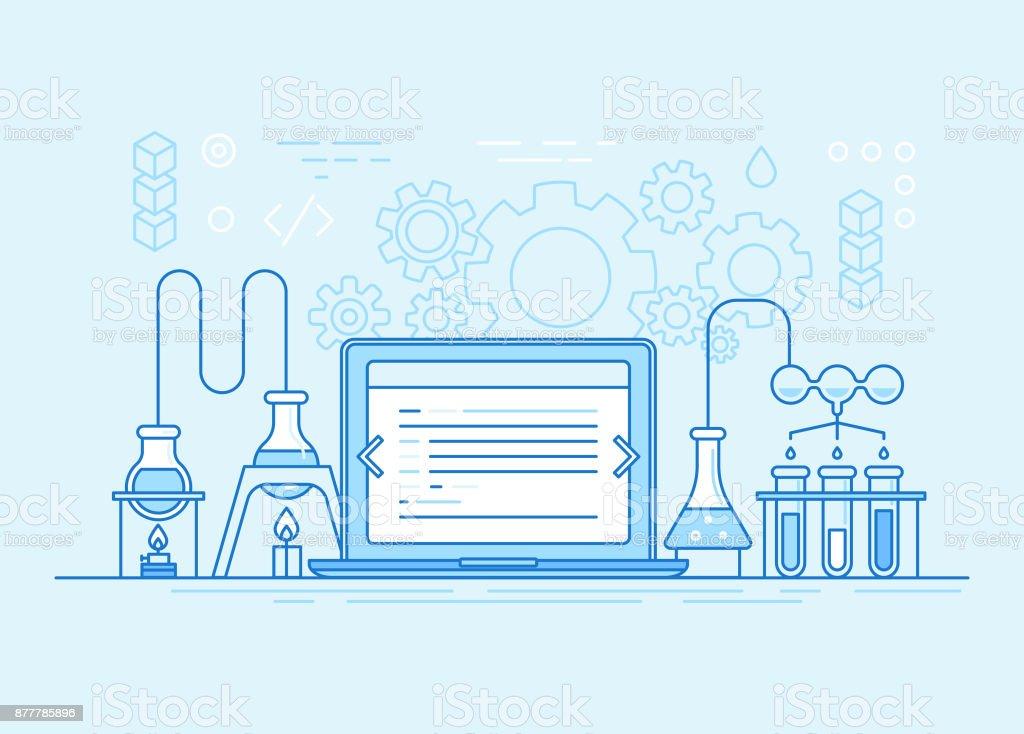 Websites und app-Entwicklung-Business-Konzept – Vektorgrafik