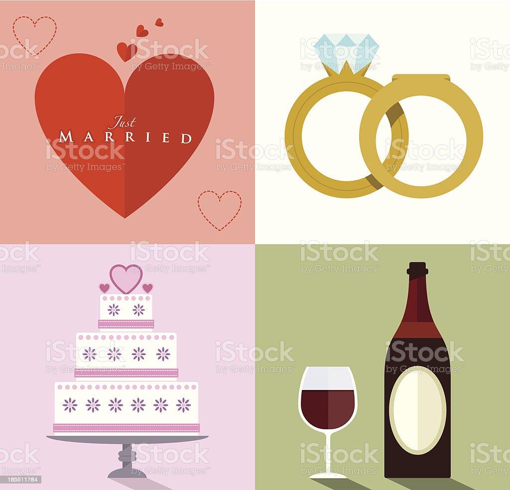 Wedding Accessories Set II royalty-free stock vector art