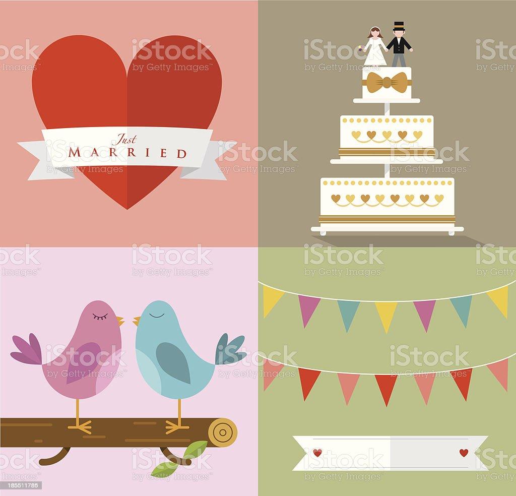 Wedding Accessories Set III vector art illustration