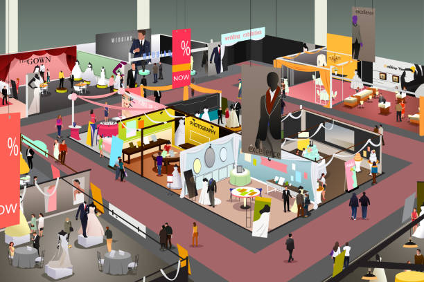 結婚式やブライダルの貿易ショーの図 - 展示会点のイラスト素材/クリップアート素材/マンガ素材/アイコン素材