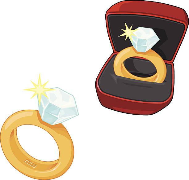 hochzeits- und verlobungsring symbole - clipart goldene hochzeit stock-grafiken, -clipart, -cartoons und -symbole