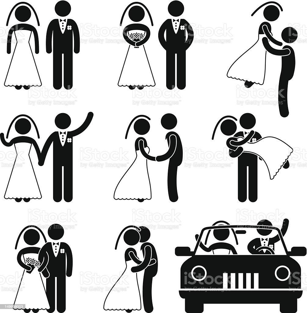 Hochzeit Und Ehe Pictogram Stock Vektor Art und mehr Bilder von ...