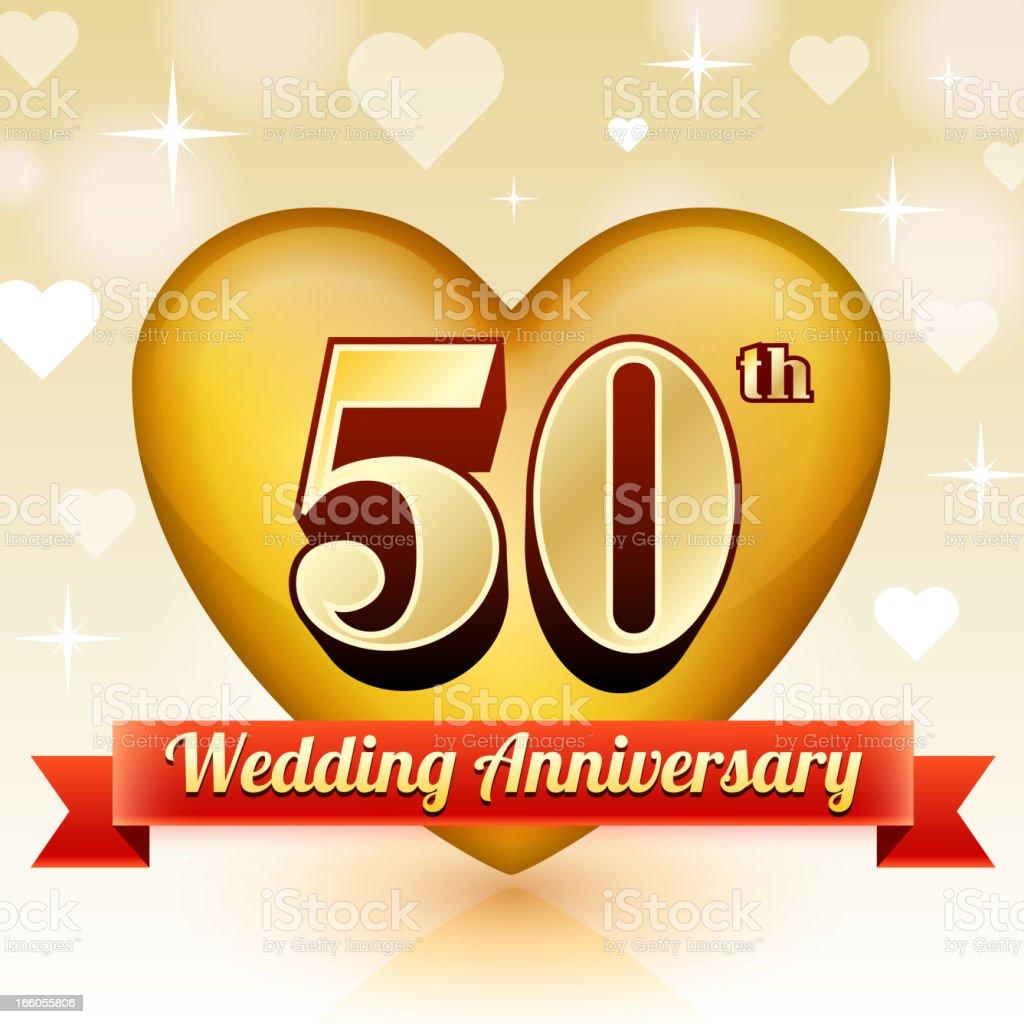 Aniversário De Casamento De Emblema Vermelho E Ouro Fundo De Recolha