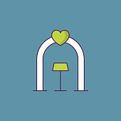 Wedding arch line icon