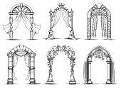 Wedding arches sketch set