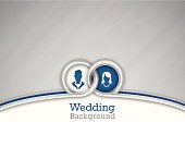 Wedding background concept. EPS 10 file. Transparency effects used on highlight elements.
