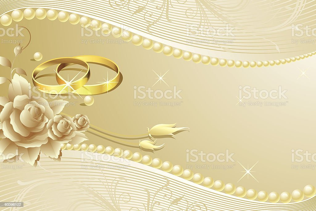 Cream Paper Wedding Rings