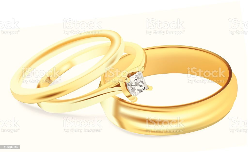 Wedding Bands - Vector Illustration vector art illustration