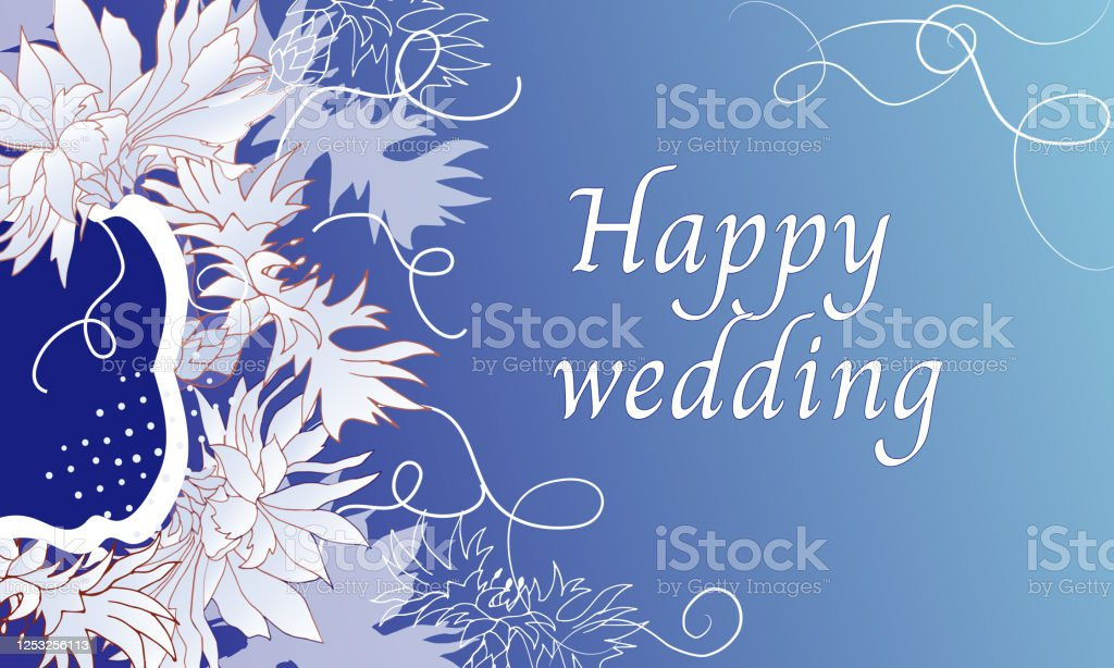 Wedding Banner With Cornflowers On A Light Blue Background Floral Vector Card Text Frame For Invitations Or Congratulations Stock Illustration Download Image Now Istock