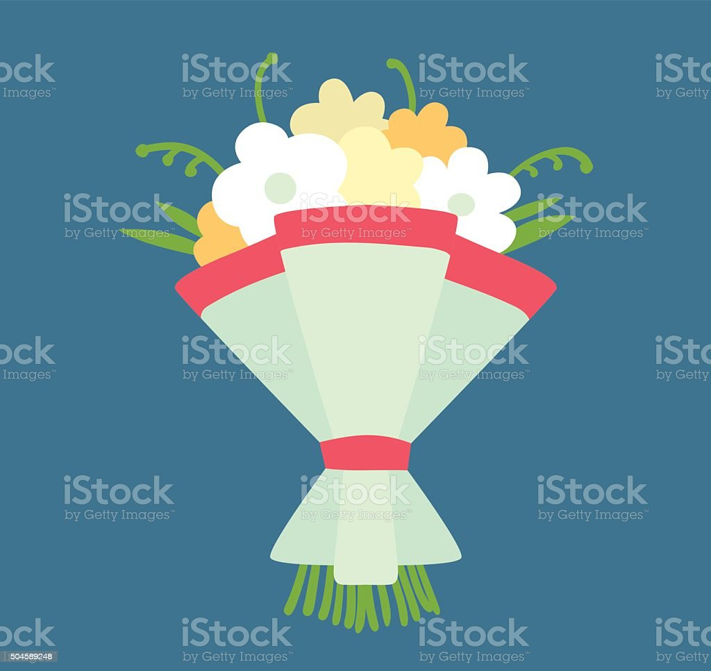 Wedding bouquet vector illustration vector art illustration