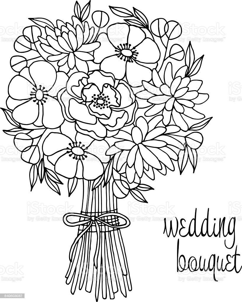 Hochzeit Blumenstrauß Mit Blume Stock Vektor Art Und Mehr Bilder Von