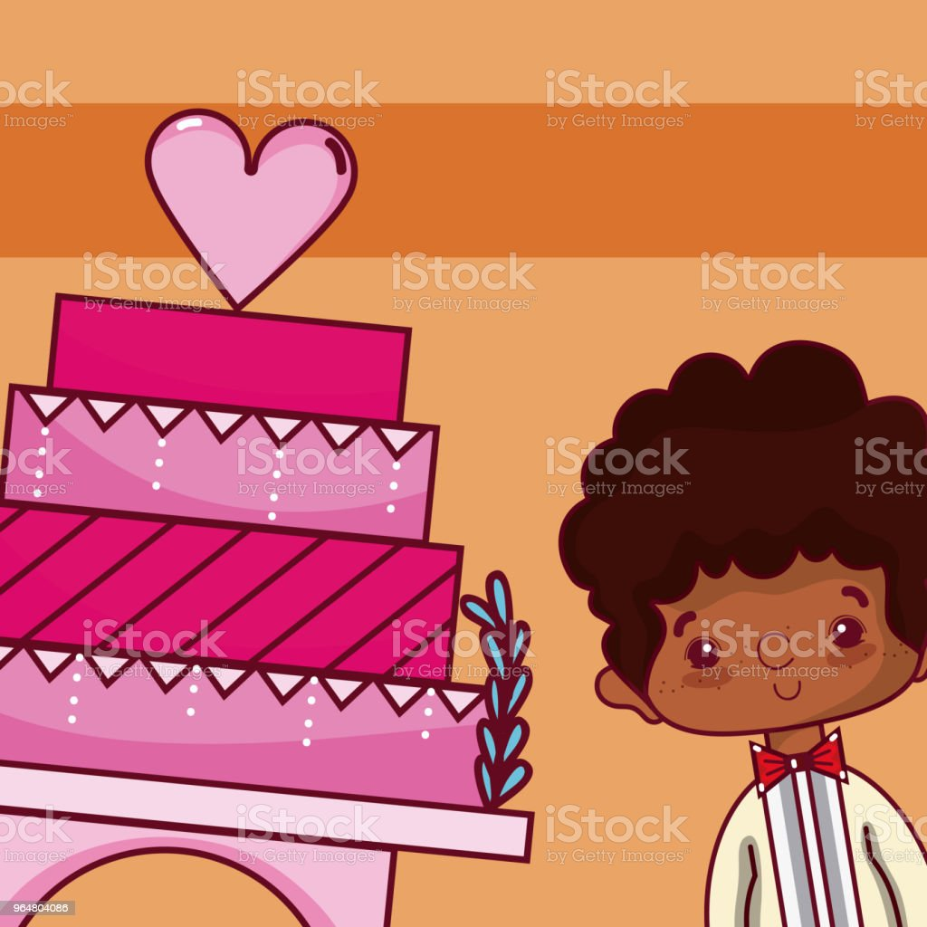 Wedding boyfriend with cake royalty-free wedding boyfriend with cake stock illustration - download image now