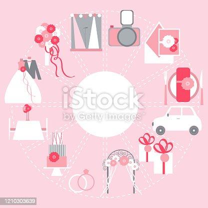 istock Wedding budget. Vector   illustration. 1210303639