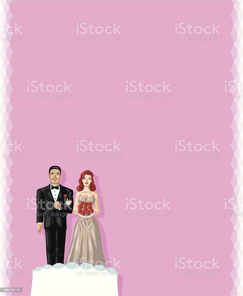 Wedding cake couple royalty-free wedding cake couple stock vector art & more images of adult