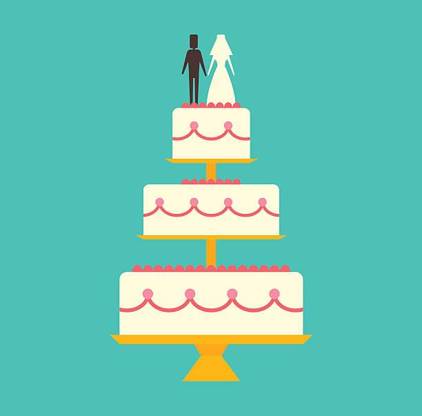 Hochzeitstorte Vektorgrafiken Und Illustrationen Istock