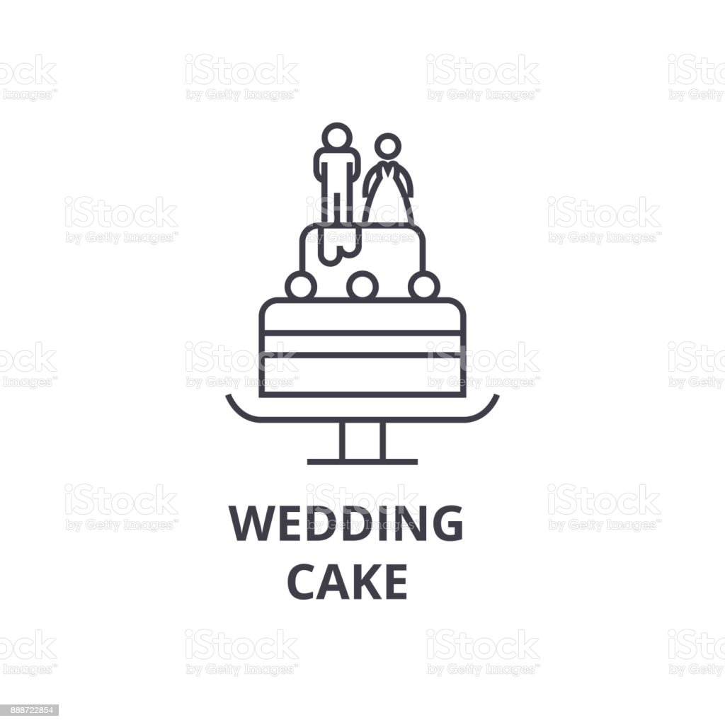 Wedding cake line icon outline sign linear symbol vector flat wedding cake line icon outline sign linear symbol vector flat illustration royalty biocorpaavc Image collections