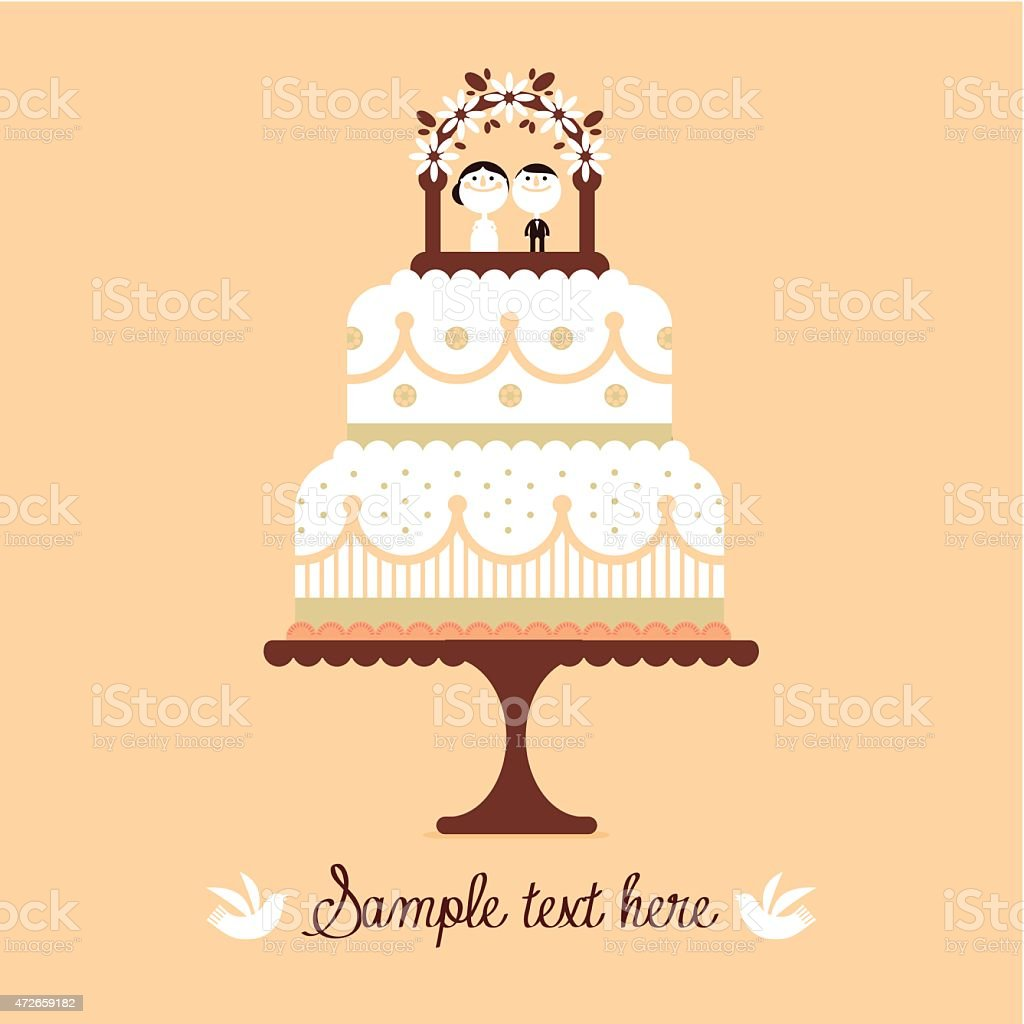 Wedding Cake Stock Vector Art & More Images of 2015 472659182 | iStock
