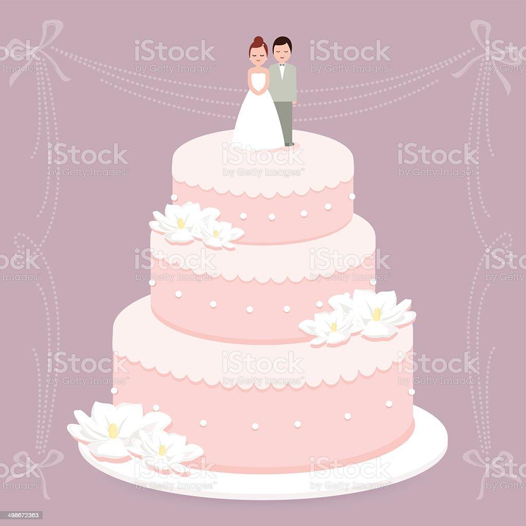 Bolo de casamento - ilustração de arte em vetor