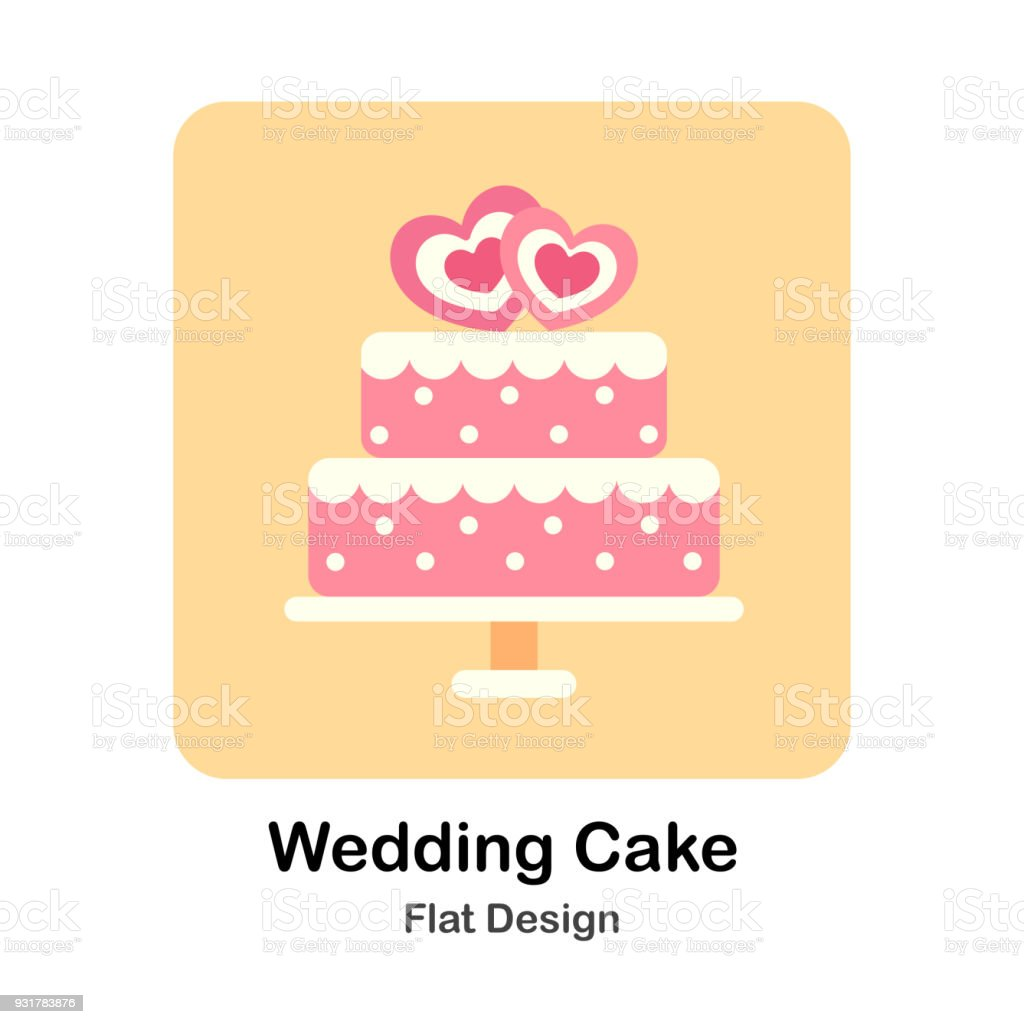 Wedding Cake Stock Vector Art & More Images of Beauty 931783876   iStock