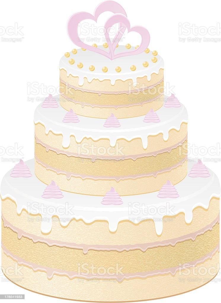 Wedding Cake Vector Illustration stock vector art 178541933   iStock