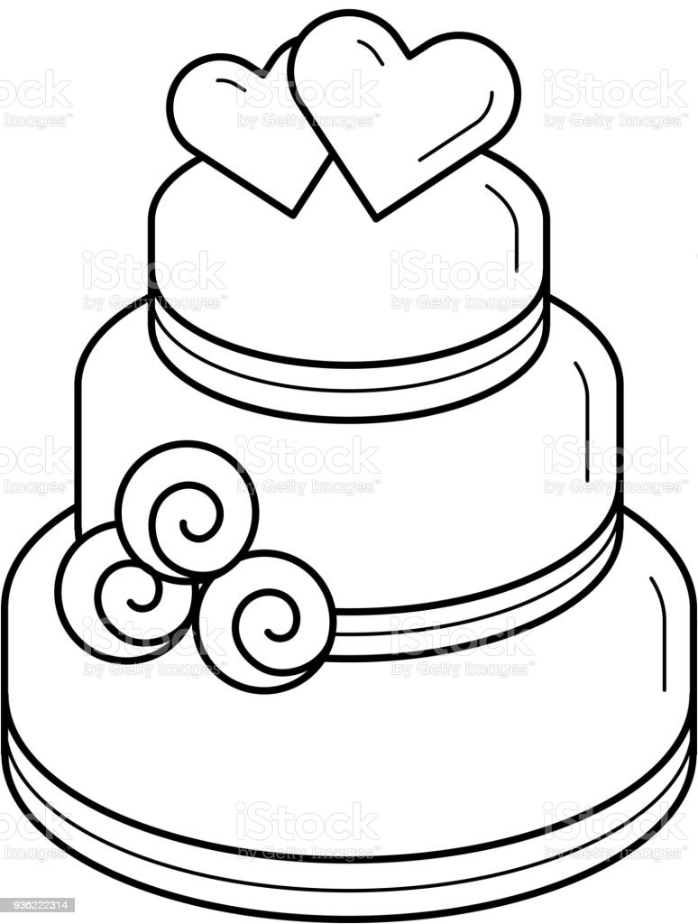 wedding cake icon vector wedding cake vector line icon stock vector amp more 22892