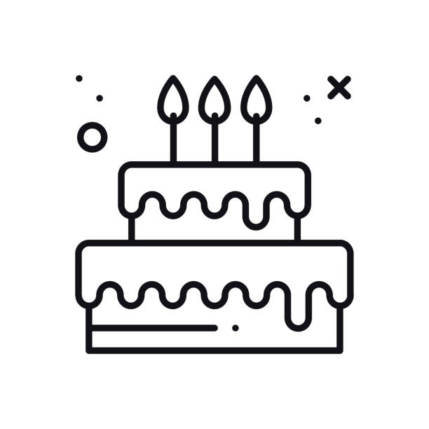 Wedding cake with heart topper line icon. Wedding sign and symbol. Pie dessert. Happy birthday. Vector illustration. Congratulation. Wedding cake with heart topper line icon. Wedding sign and symbol. Pie dessert. Happy birthday. Vector illustration. Congratulation cake clipart stock illustrations