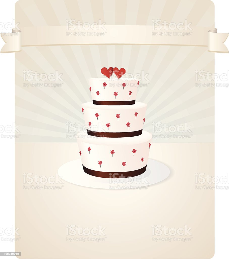 Wedding Cake With Hearts and Flowers royalty-free wedding cake with hearts and flowers stock vector art & more images of baking