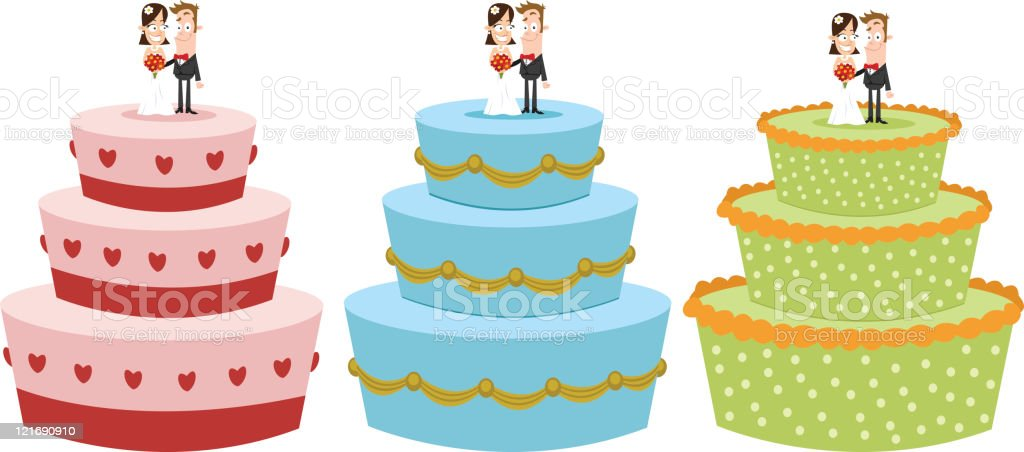 Bolos de casamento - ilustração de arte em vetor