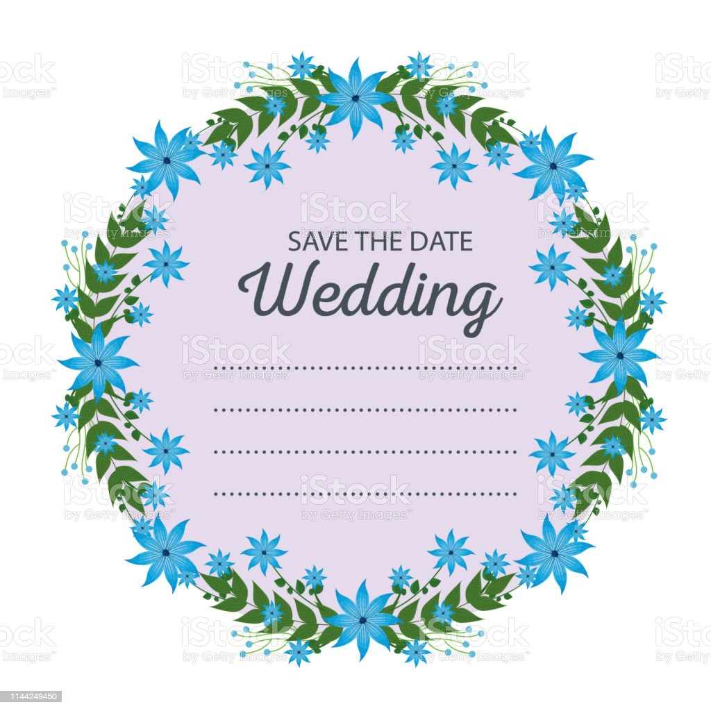 wedding card and frame with flowers amd branches leaves