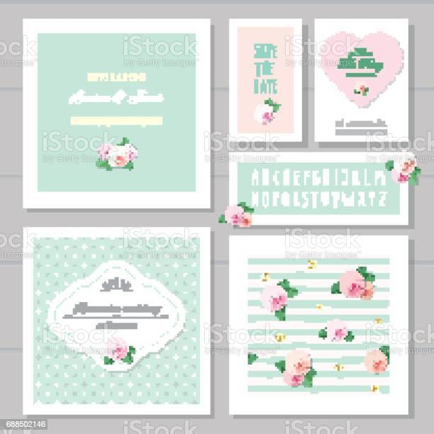 Wedding card templates set decorated with roses invitation save the vector id688502146?b=1&k=6&m=688502146&s=612x612&h=5sm9dukl6v9gnsoozdlat556vl5jiysr5rbr8fdocek=