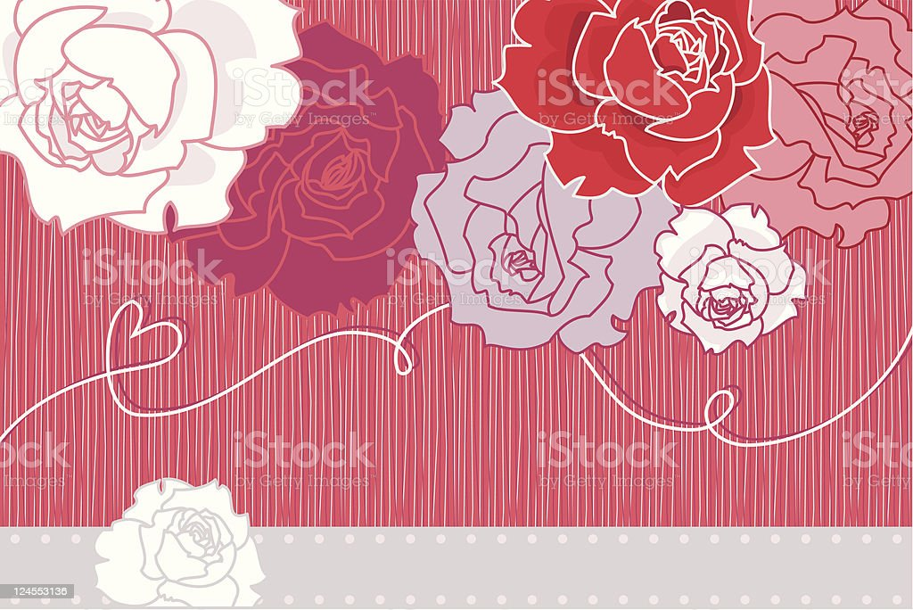 Wedding Card (Roses) royalty-free stock vector art