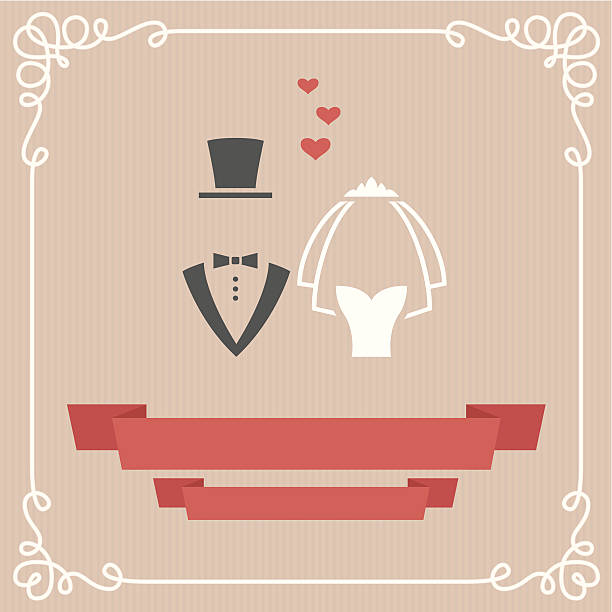 Wedding card Wedding invitation card in vector bridegroom stock illustrations