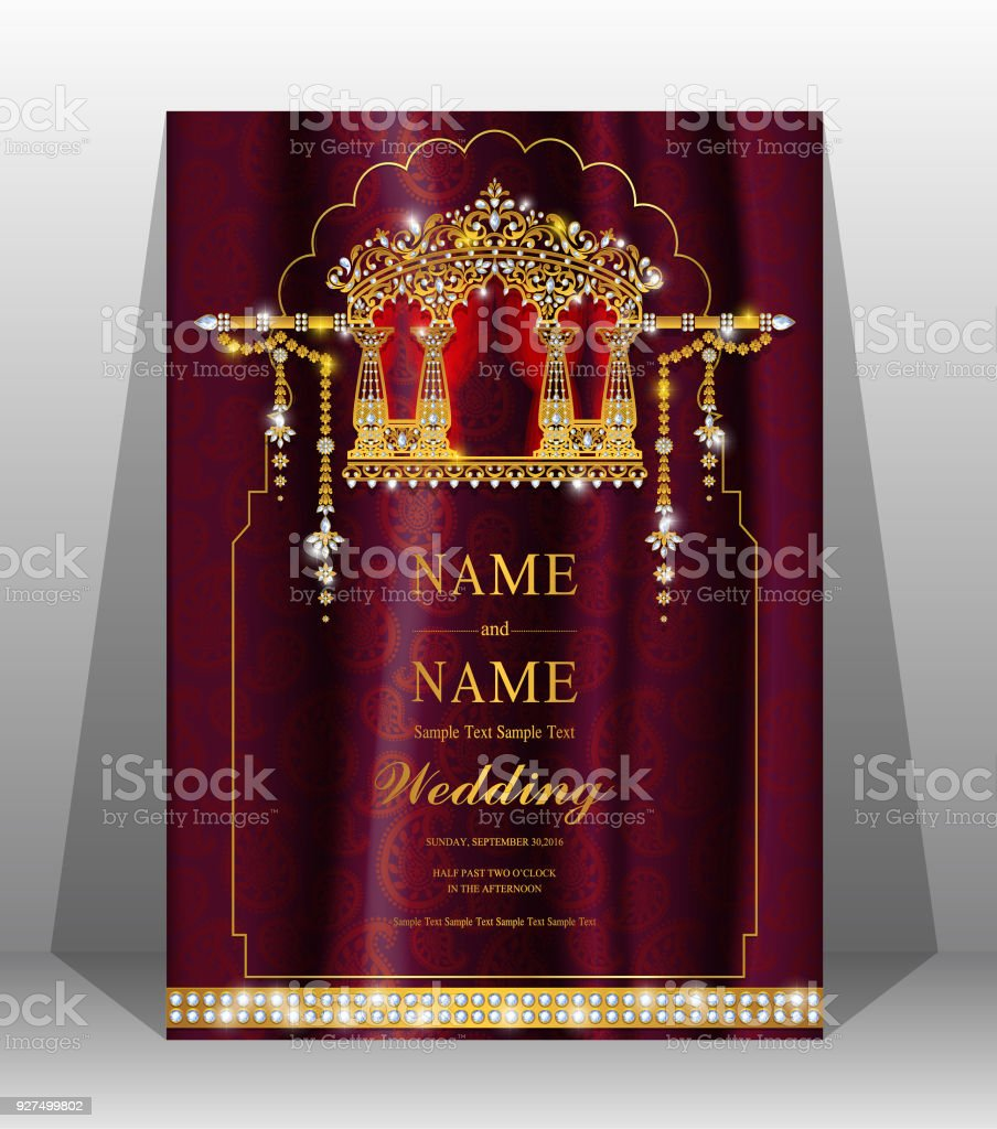 Wedding Cardindian Wedding Invitation Card Templates With