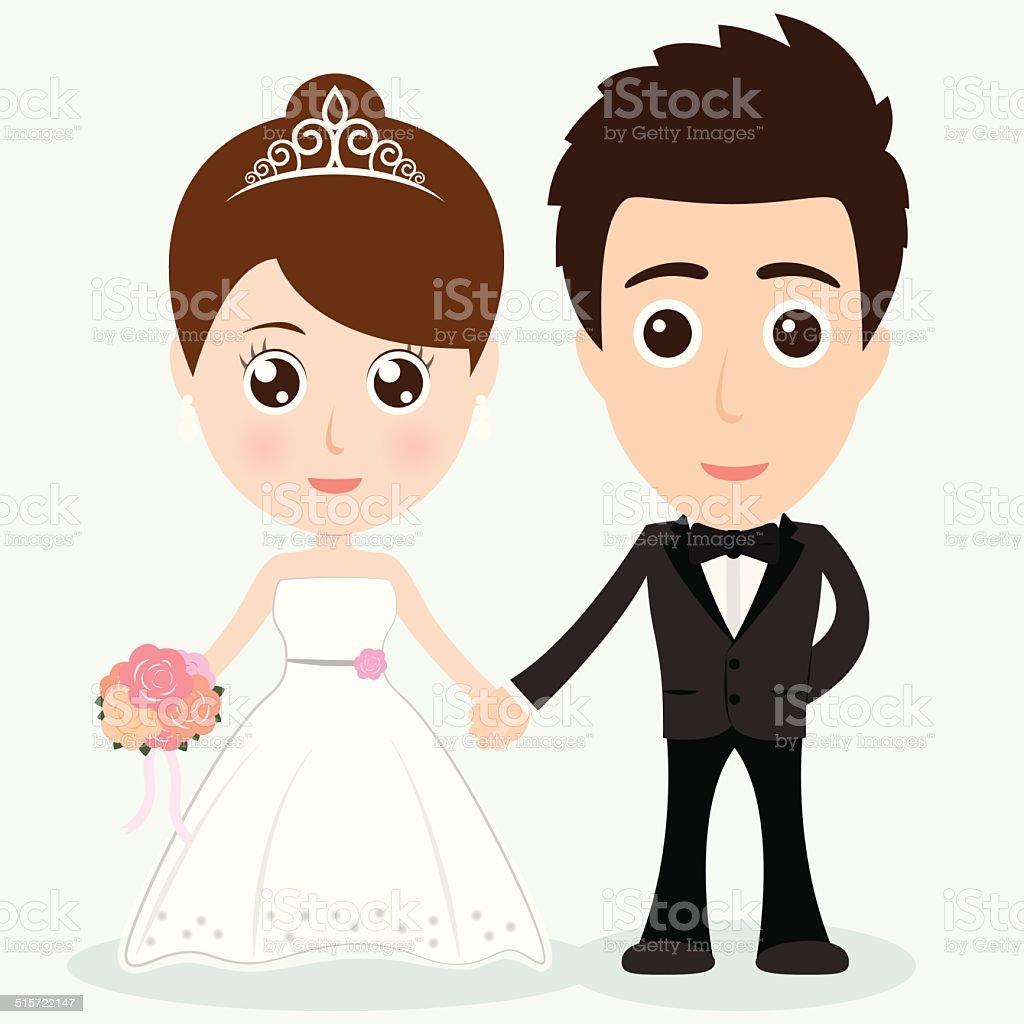 personnage de dessin anim de mariage illustration vectorielle eps 10 personnage de dessin anim de - Dessin Mariage