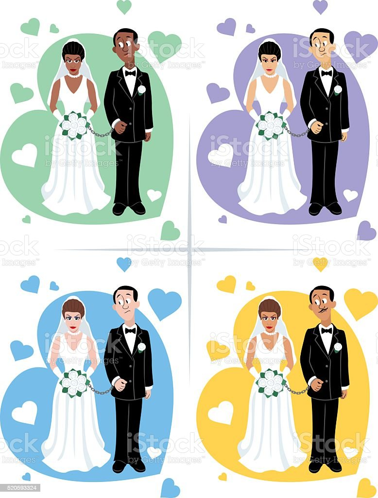 Wedding Ceremony Set vector art illustration
