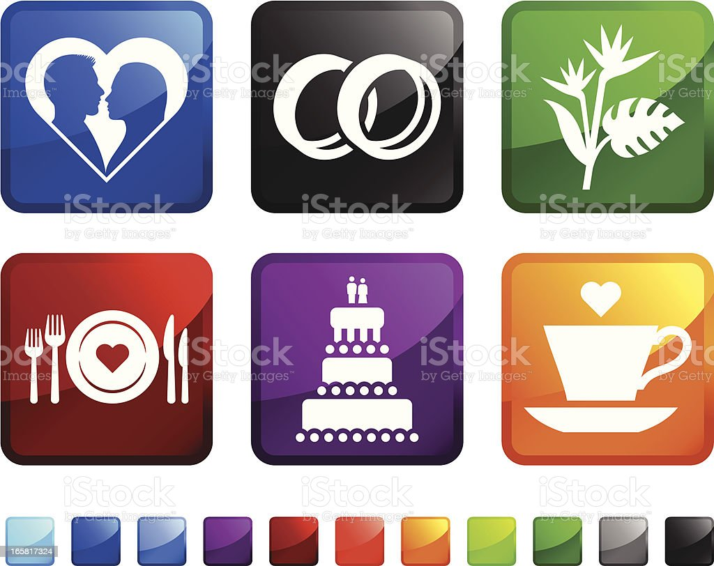 Wedding Ceremony Traditions royalty free vector icon set stickers royalty-free wedding ceremony traditions royalty free vector icon set stickers stock vector art & more images of black color