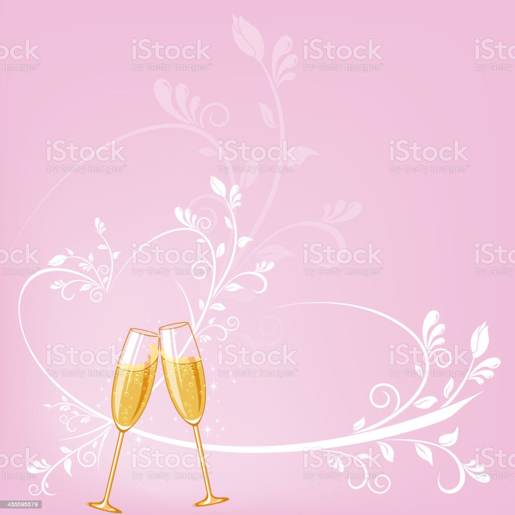 Wedding Champagne Background vector art illustration