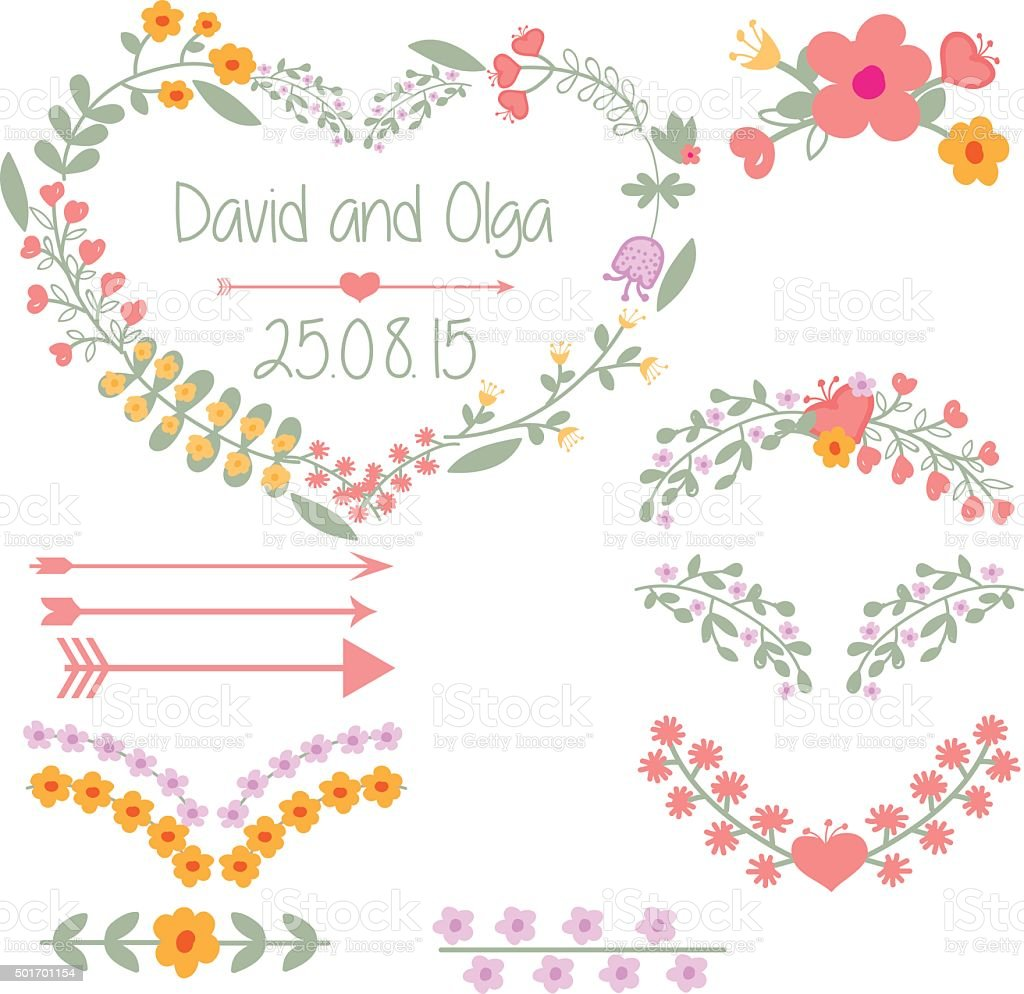 Wedding Clipart On A Transparent Background Stock Vector ...