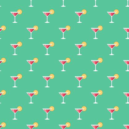 Wedding Cocktail Seamless Pattern
