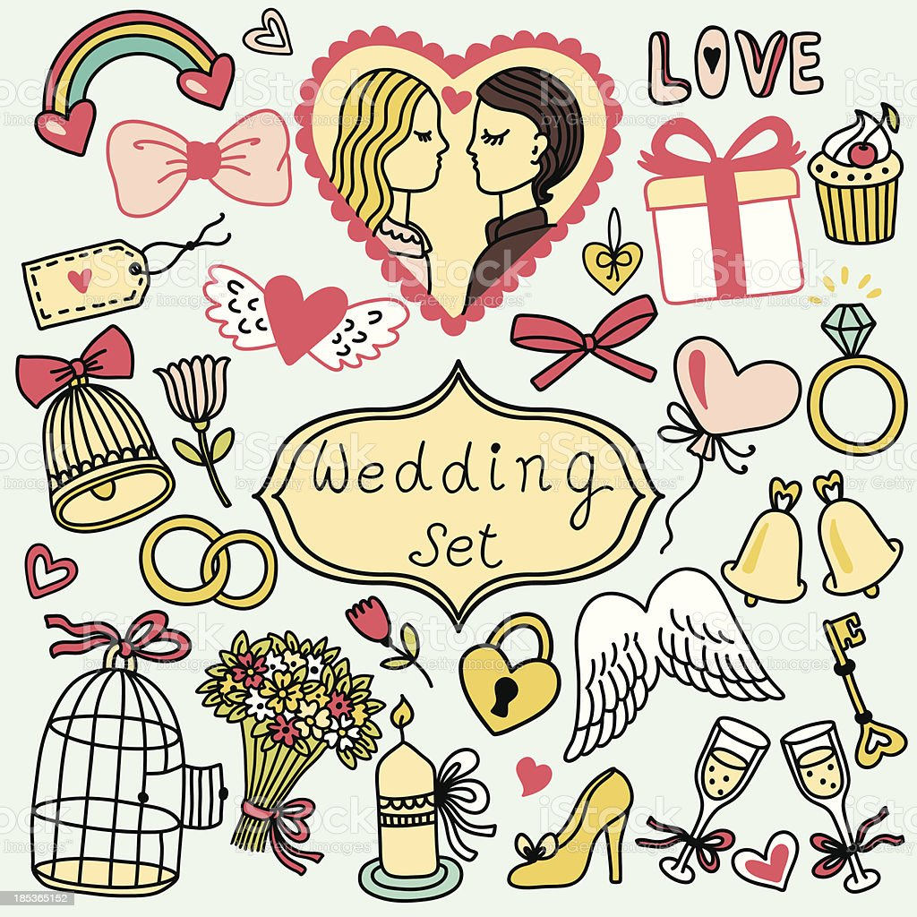 Wedding collection royalty-free wedding collection stock vector art & more images of abstract
