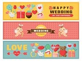 Wedding colorful card set