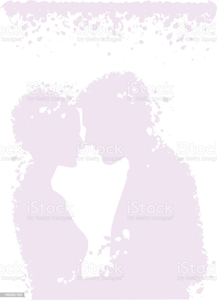 Wedding couple in purple mood royalty-free stock vector art