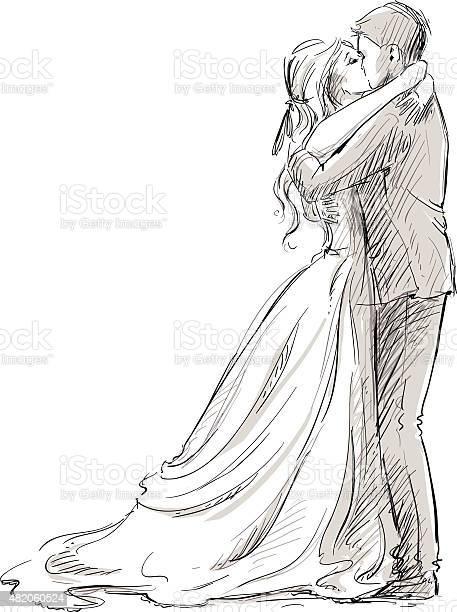 Wedding couple kiss newlywed vector sketch vector id482060524?b=1&k=6&m=482060524&s=612x612&h=8u5orn0yt 8lmztleq4mkb15y ixesi4txxkaaehf6m=
